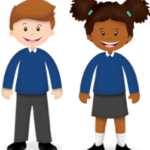 Students wearing uniforms